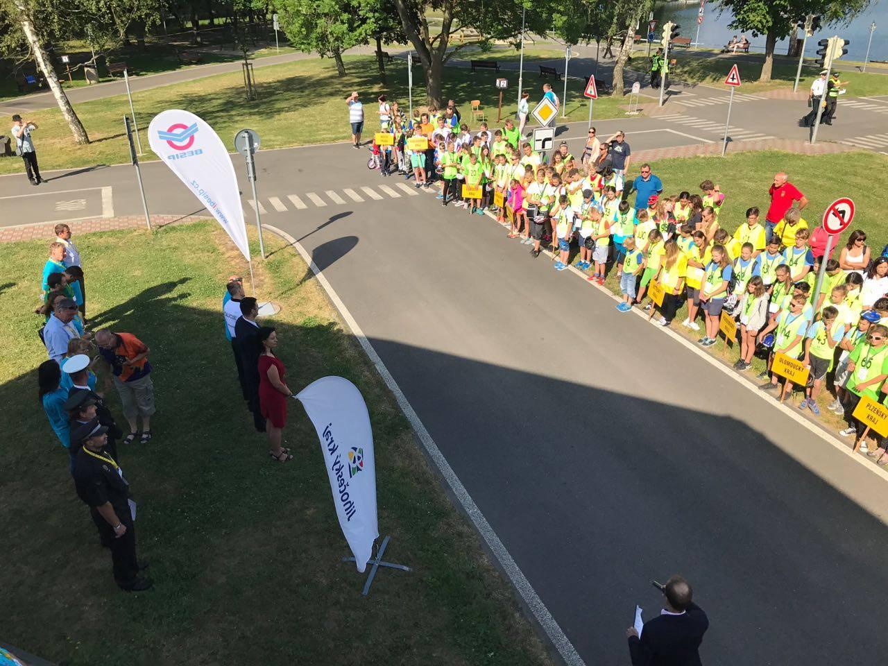 Foto z finále Dopravní soutěže mladých cyklistů