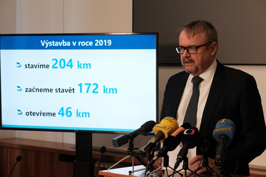 By the end of the year 204 km of roads will be under construction, in 2019 another 172 km.