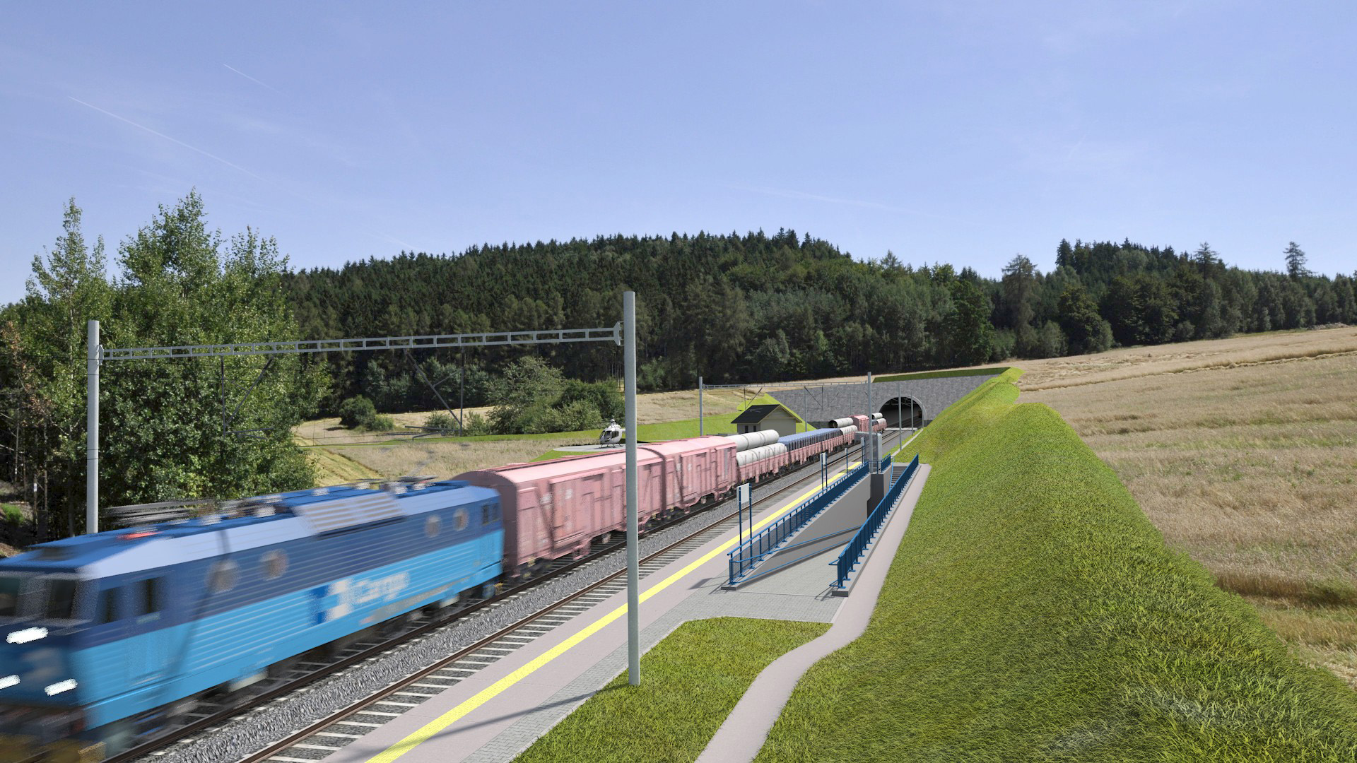 The train trip from Prague to Tábor will not take only one hour