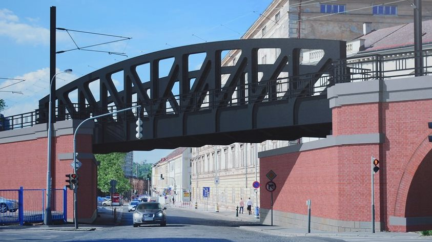 Reconstruction of the famous Negrelli Viaduct began in Prague
