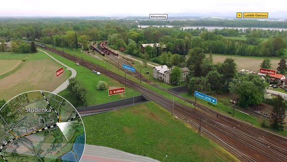 A multi-level crossing proposal was prepared for the Studénka railway crossing